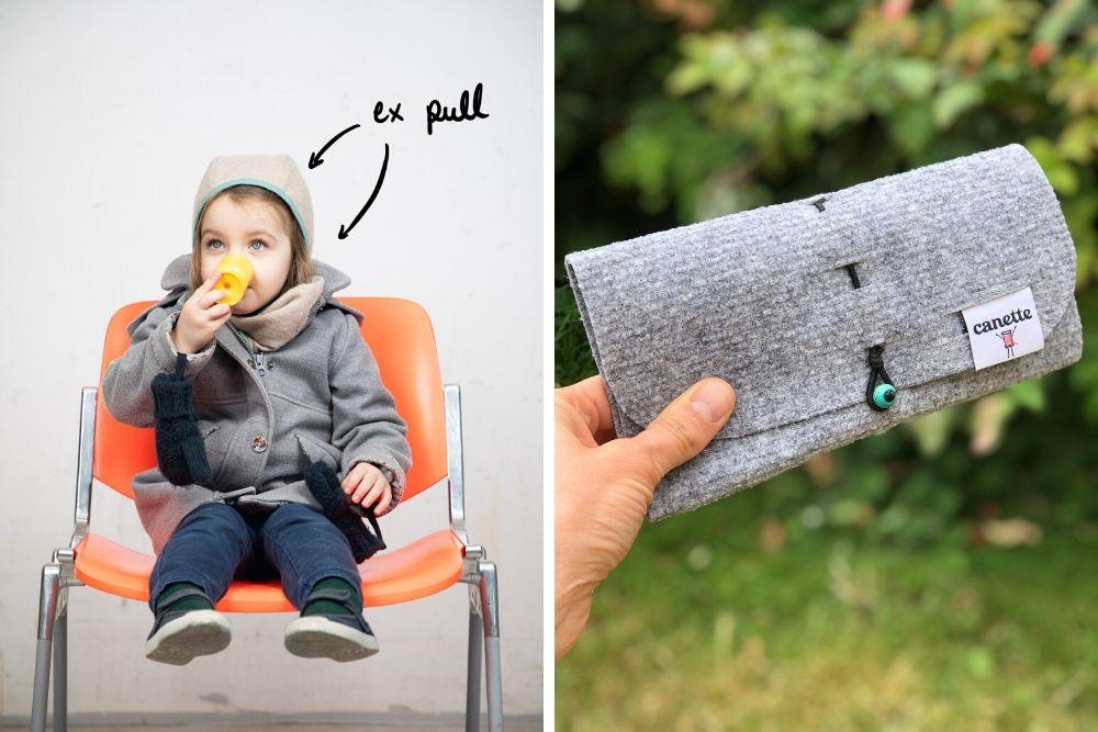 Canette : un kit pour transformer son pull en béguin et cache-cou pour enfants