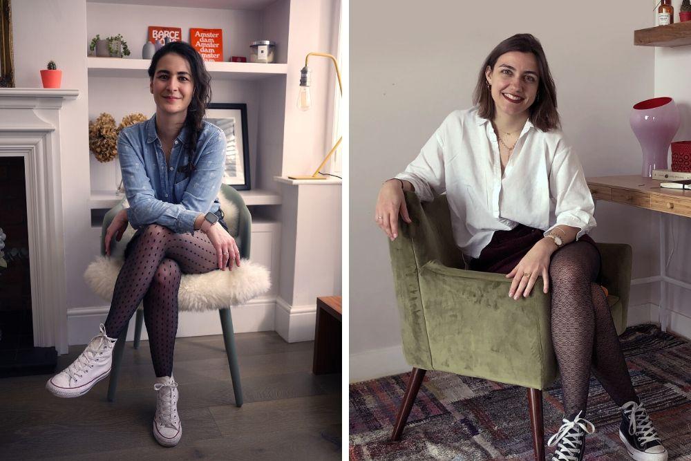 Sophie Billi-Hardwick et Marie Bouhier lancent Billi London, une marque de collants qui se biodégradent en un temps record.