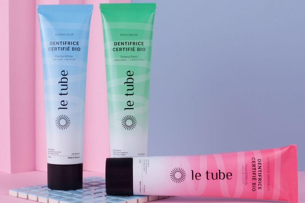 LE TUBE, des dentifrices made in France qui prennent soins de la santé et de la planète