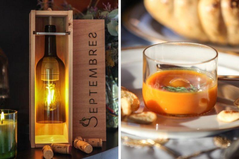 Lampes, verres : Septembres donne une seconde vie aux bouteilles de vin